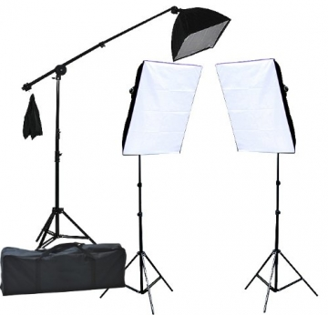fancierstudio 2400 watt lighting kit three softbox lights