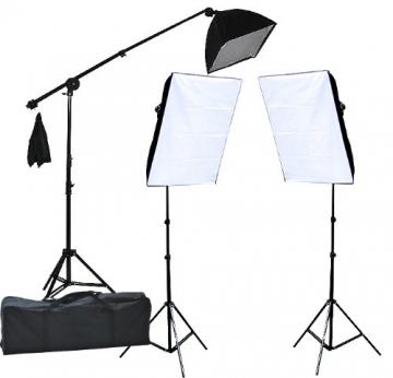 fancierstudio 2400 watt lighting kit three softbox lights